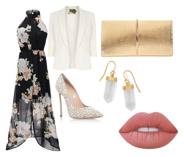 """""""White"""" by pineda-couture on Polyvore featuring moda, Jolie Moi, Casadei, Nina Ricci, Lime Crime y BillyTheTree"""