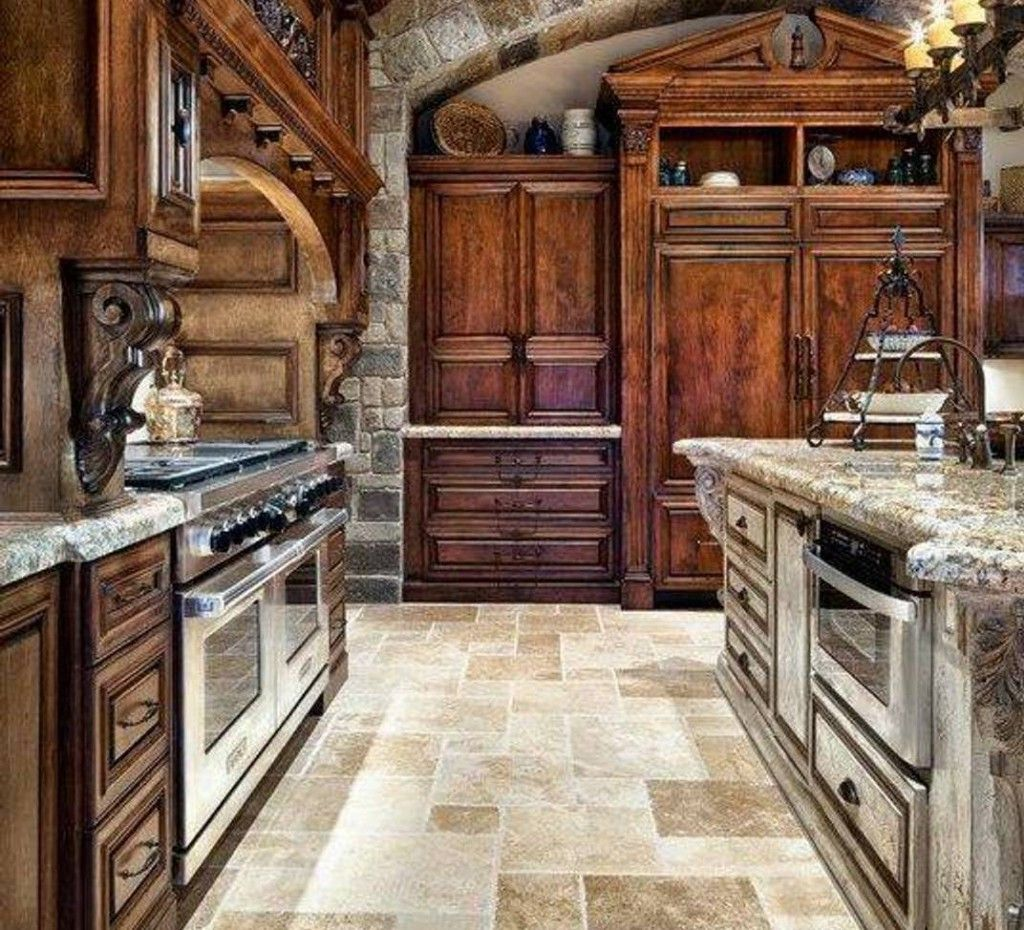 Tuscan Kitchen Style With Luxury Design For Gorgeous Look