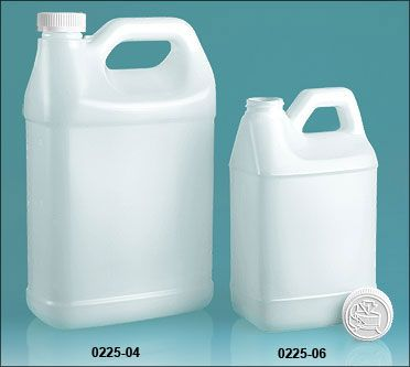 Natural Hdpe F Style Jugs W Lined Child Resistant Caps Water Softener Plastic Jugs Hdpe Bottles