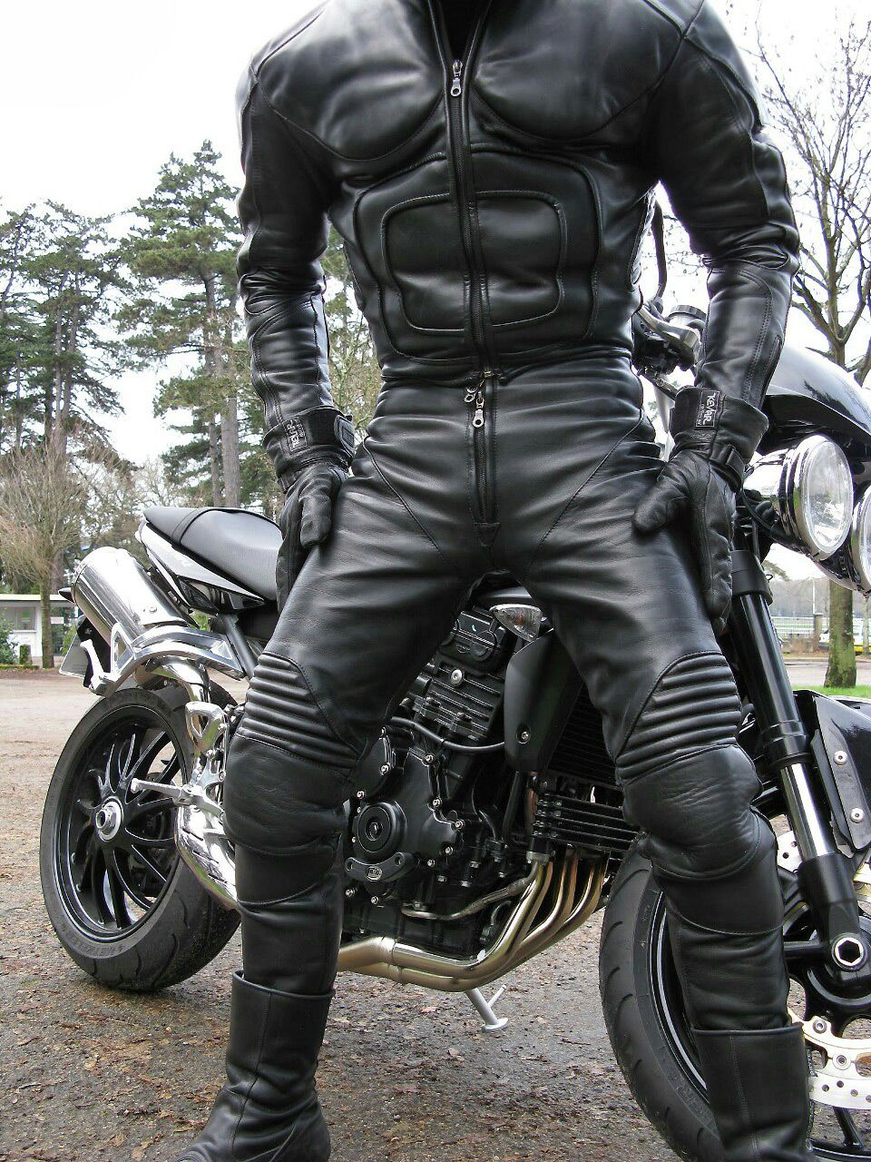 A one- or two-piece leather suit will give you optimum abrasion resistance in the event of a crash or slide and if you're thinking about taking your bike on track, you'll need a set of one-piece leathers, or two-piece suit that zips together at the waist.
