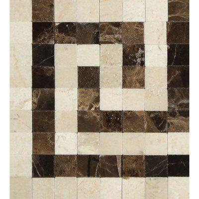 Meraki 4 X 4 Marble Corner Piece Tile Trim In Brown Cream Marble Polishing Tile Trim