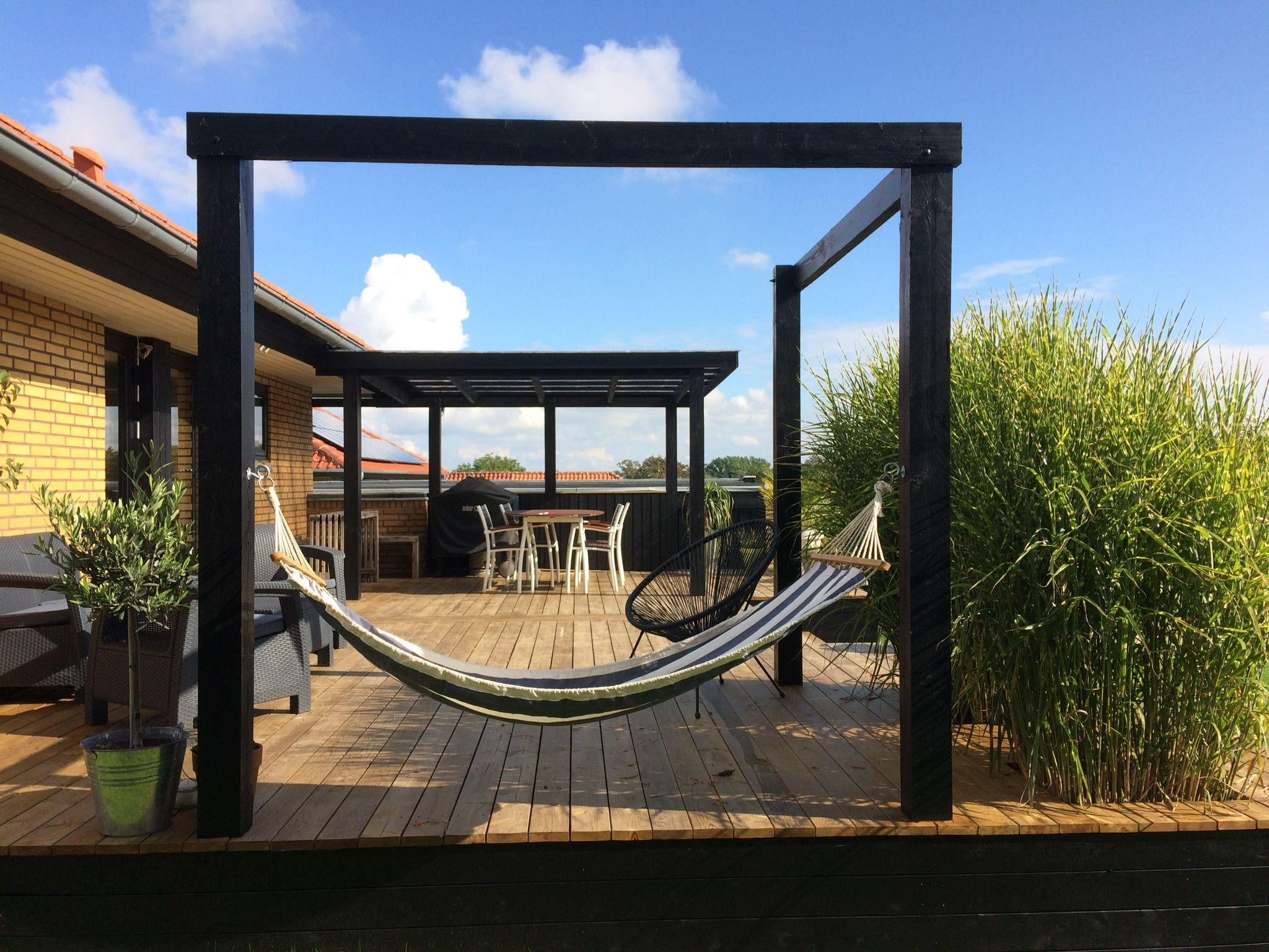 Træterrasse, rum, bjælker, Garden dreams