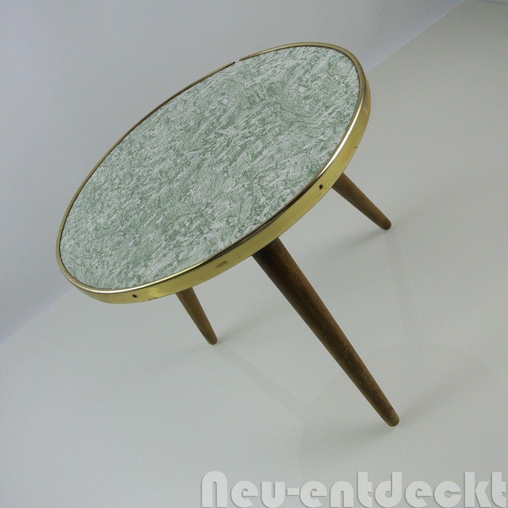 Beistelltisch Nierentisch 60 er Tisch 50er Hocker Holz Tischchen ...