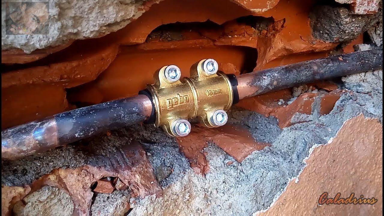 Reparación De Una Fuga De Agua Repara Tu Tubería De Cobre Tubería De Cobre Reparación De Uñas Tuberías De Agua