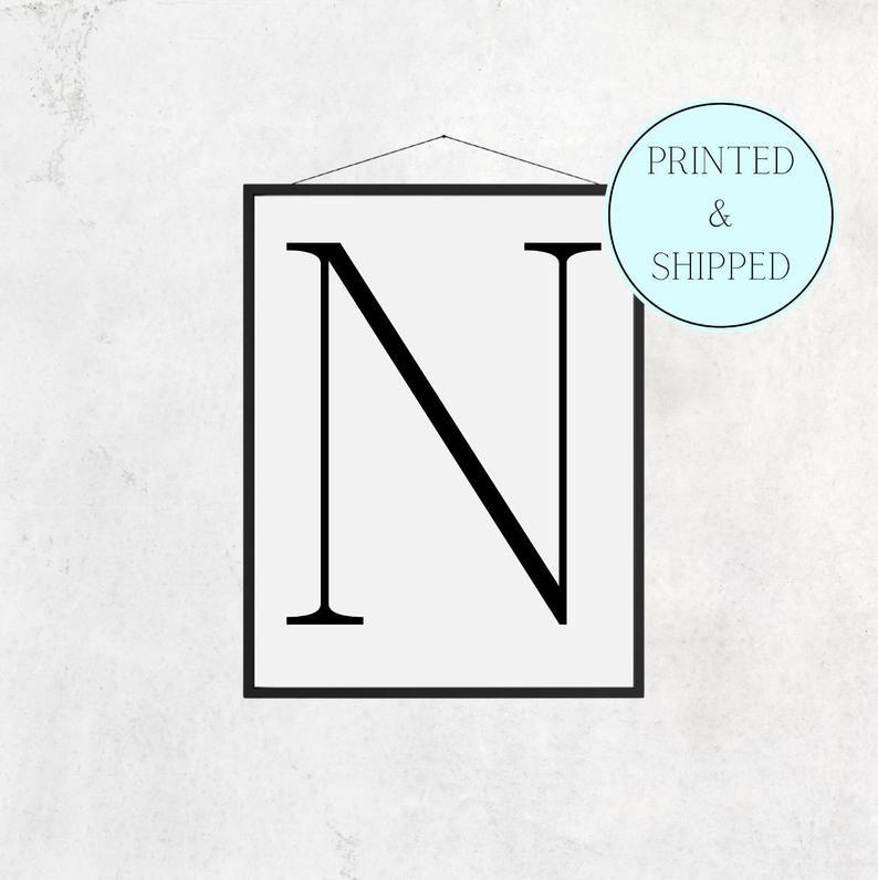 N Print Letter N Print Alphabet Print Letter Print Simple   Etsy