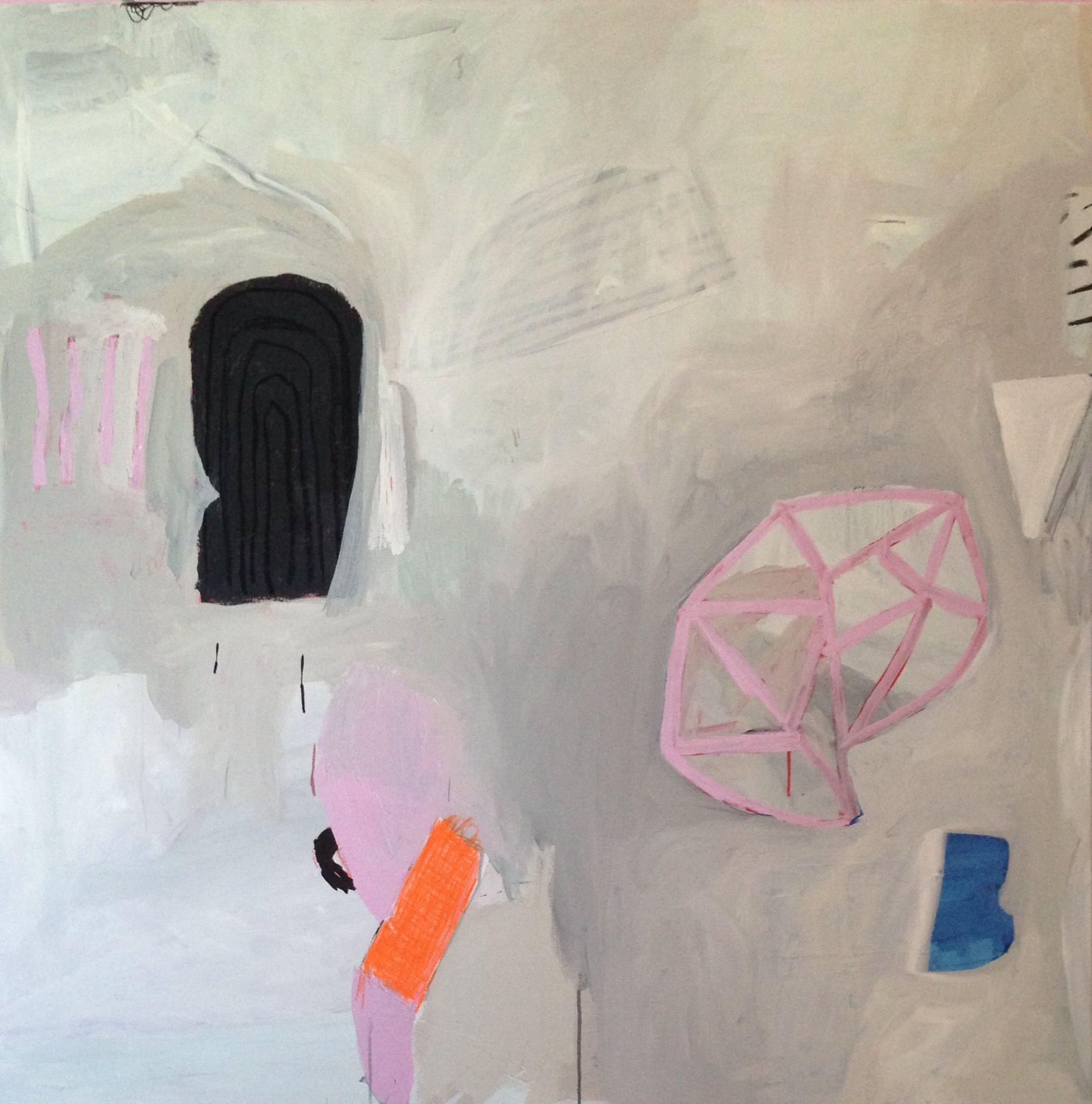 TBD mm on canvas 48x48 2014 Sarah