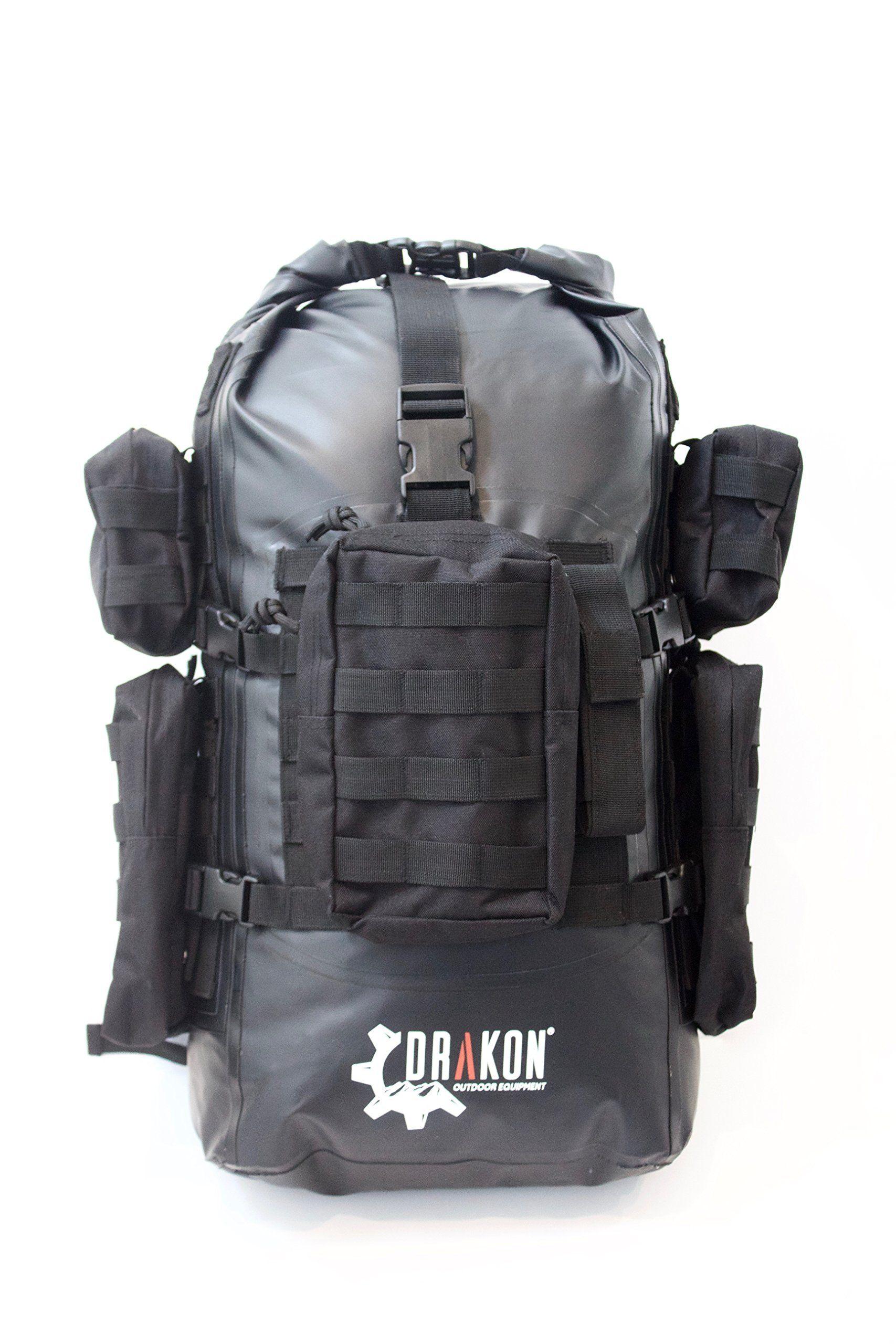 Survival backpack, Drakon, 40L, go bag, backpack, dry bag, bug out ...
