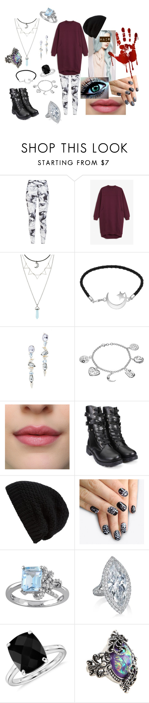 """""""Untitled #16"""" by s19970103m ❤ liked on Polyvore featuring Varley, Monki, Alexis Bittar, Timeless Sterling Silver, Rick Owens, alfa.K, Laura Ashley and Blue Nile"""