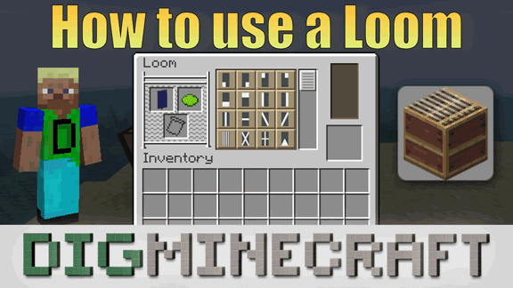 Learn How To Use A Loom In The Minecraft Village Pillage Update Coming Soon Starting In Java E Banner Crafting Minecraft Banner Crafting Types Of Craft