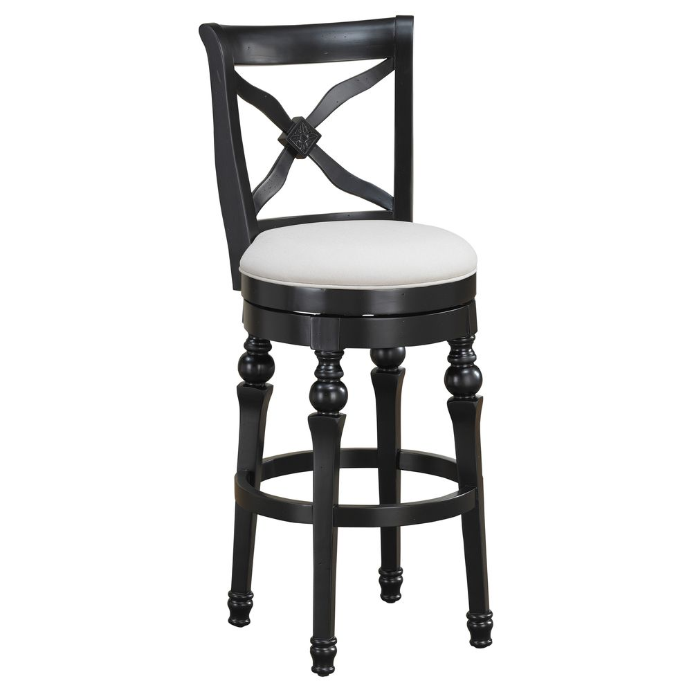 Stools Overstock: Hadleigh 24-inch Antique Black Swivel Counter Stool