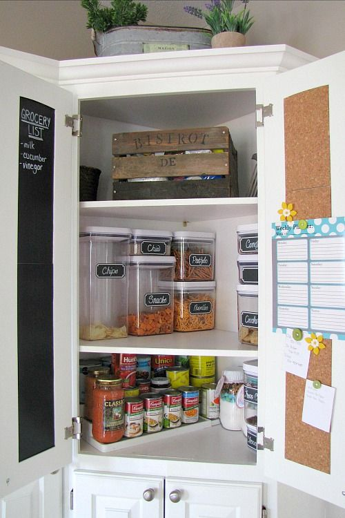 How To Organize Your Pantry Kitchen Pantry Cupboard Kitchen Organization Pantry Corner Kitchen Cabinet