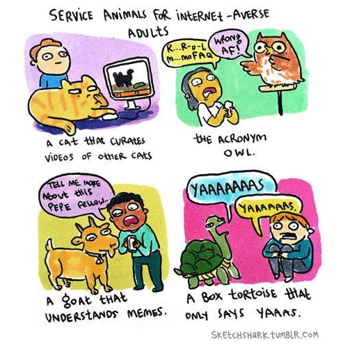 sketchshark: Service Animals.
