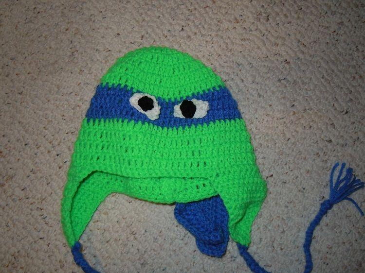 Free Crochet Teenage Mutants Ninja Turtles Hat Pattern Green Hats