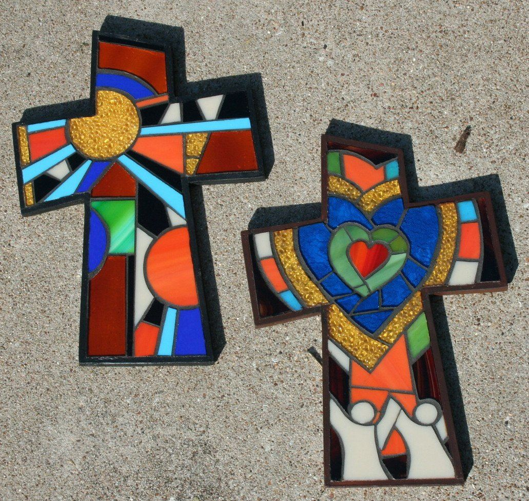 Lisa Francis Mosaic crosses