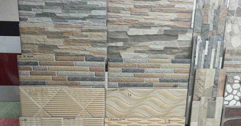 Keramik Dinding Motif Kayu