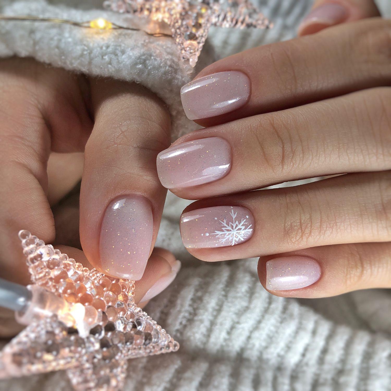 Christmas Fun Carnival Glam Pink Nail Art Snowflake Nail Art Nail Design Inspiration
