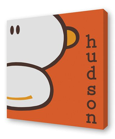 Take a look at this Orange Happy Monkey Personalized Canvas by Lex Modern on #zulily today!