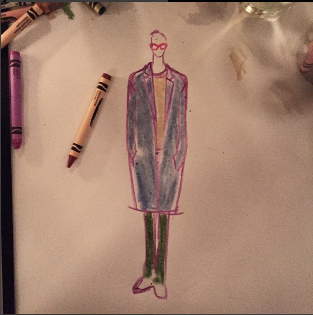 Dan Levy Instagram fashion illo instadanjlevy dinner