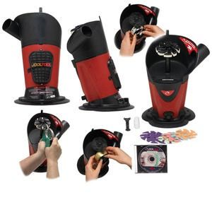 Jooltool Sharpening and Polishing System, plastic and steel, red and black, 110/240 volt, 12x9x7 inches. Sold individually.