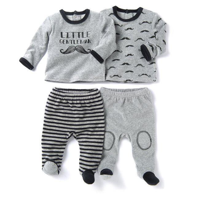 93d42d45f3405 Pyjama 2 pièces velours (lot de 2) 0 mois-3 ans R mini   prix