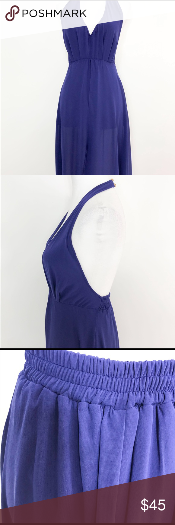 "Fashion nova Mullet Backless dress Fashion nova mullet backless dress New without tags, never worn. 100% polyester fabric and Lining. Measurements: Waist to hem 40"", Back Seam to hem 42"" Elastic on waist, Color Blue, Size Small, Beautiful for Summer, Spring, Vacation, speciall ocassion Fashionnova Dresses Maxi #shortbacklessdress"