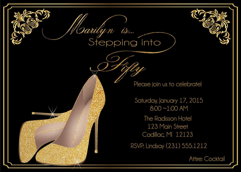 Women S 50th Birthday Invitation Birthday Invite For Women