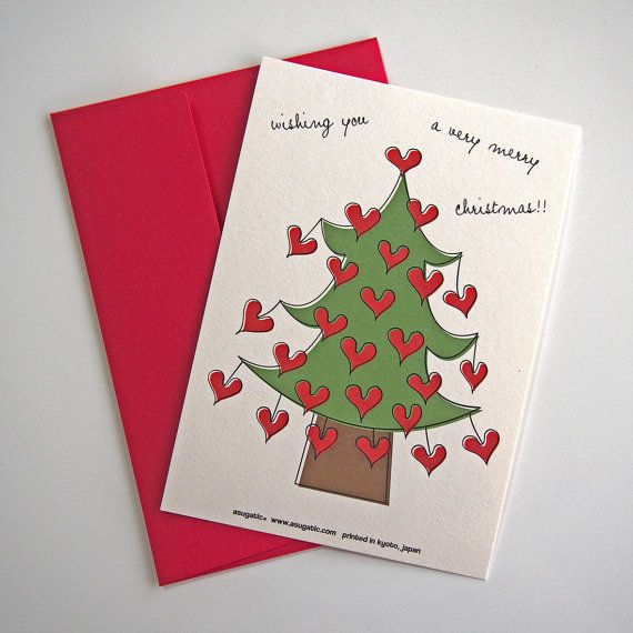 Love Tree Christmas Card By Asugatic With Images Christmas