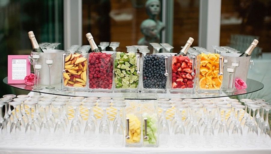 Bubbly Bar Add A Special Touch To Your Champagne Toasts By Featuring This At Wedding Guests Can Help Themselveix Match Fruit Of Their