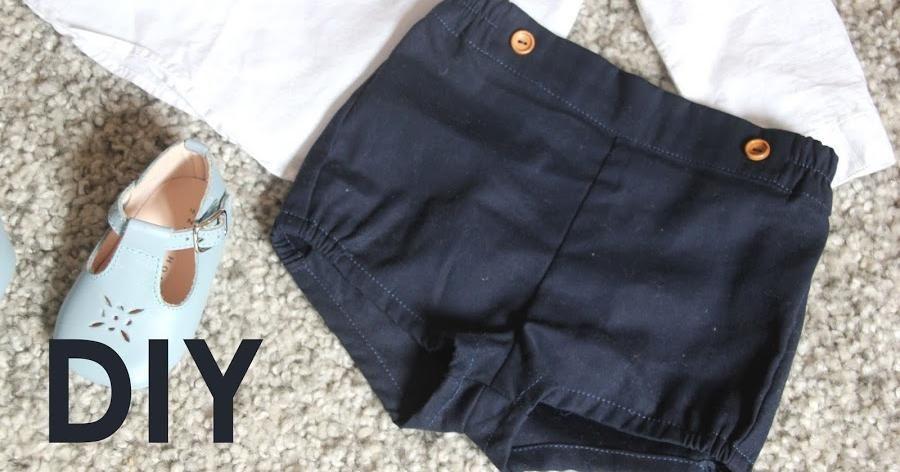 Vídeo tutorial y patrones: pantalón corto para bebé