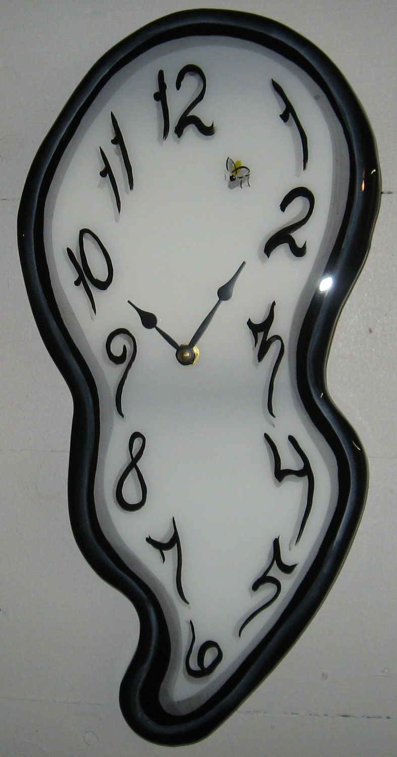 Melting Wall Clock Clock Painting Wall Clock Melting Clock
