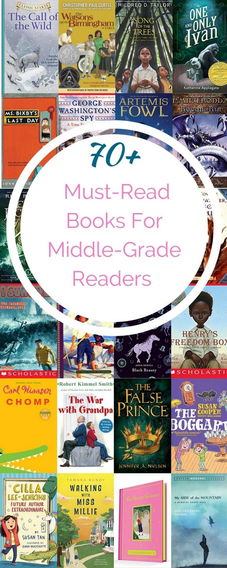 The Ultimate List of Middle Grade Fiction is part of Middle school books, Middle grade books, Middle school fiction, Middle grades, Middle school reading list, Middle grades reading - The Middle Grade Fiction scene has exploded in recent years and we wanted to round up the best of the best  But have no fear, we included classics perfect for your middlegrade reader in this extensive list!