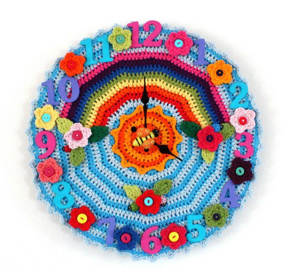 a crocheted clock!