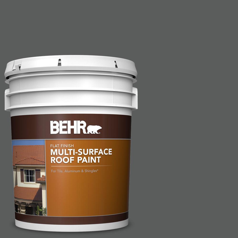 Best Behr 5 Gal N520 6 Asphalt Gray Flat Multi Surface 400 x 300