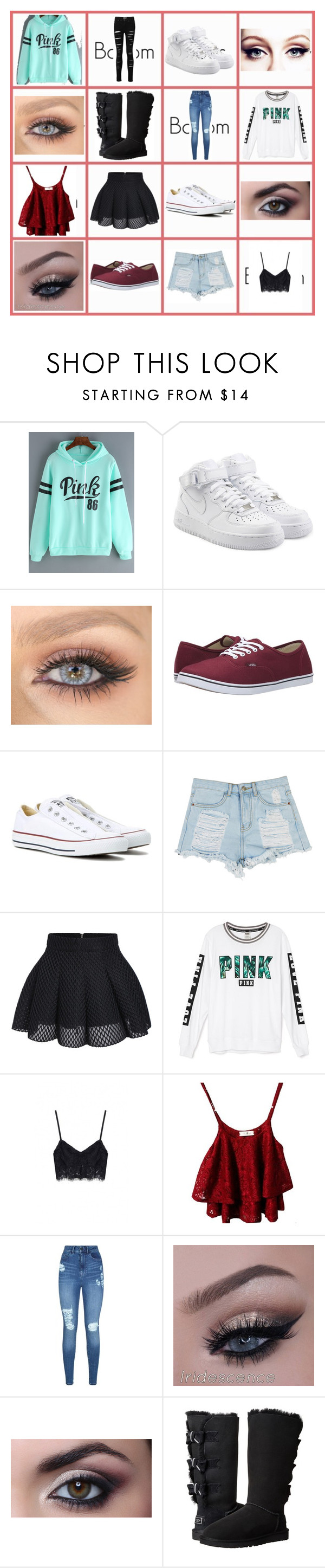 """""""cute outfits for school or concerts"""" by gingger8 on Polyvore featuring NIKE, Vans, Converse, Victoria's Secret, Lipsy, UGG Australia, school and concerts"""