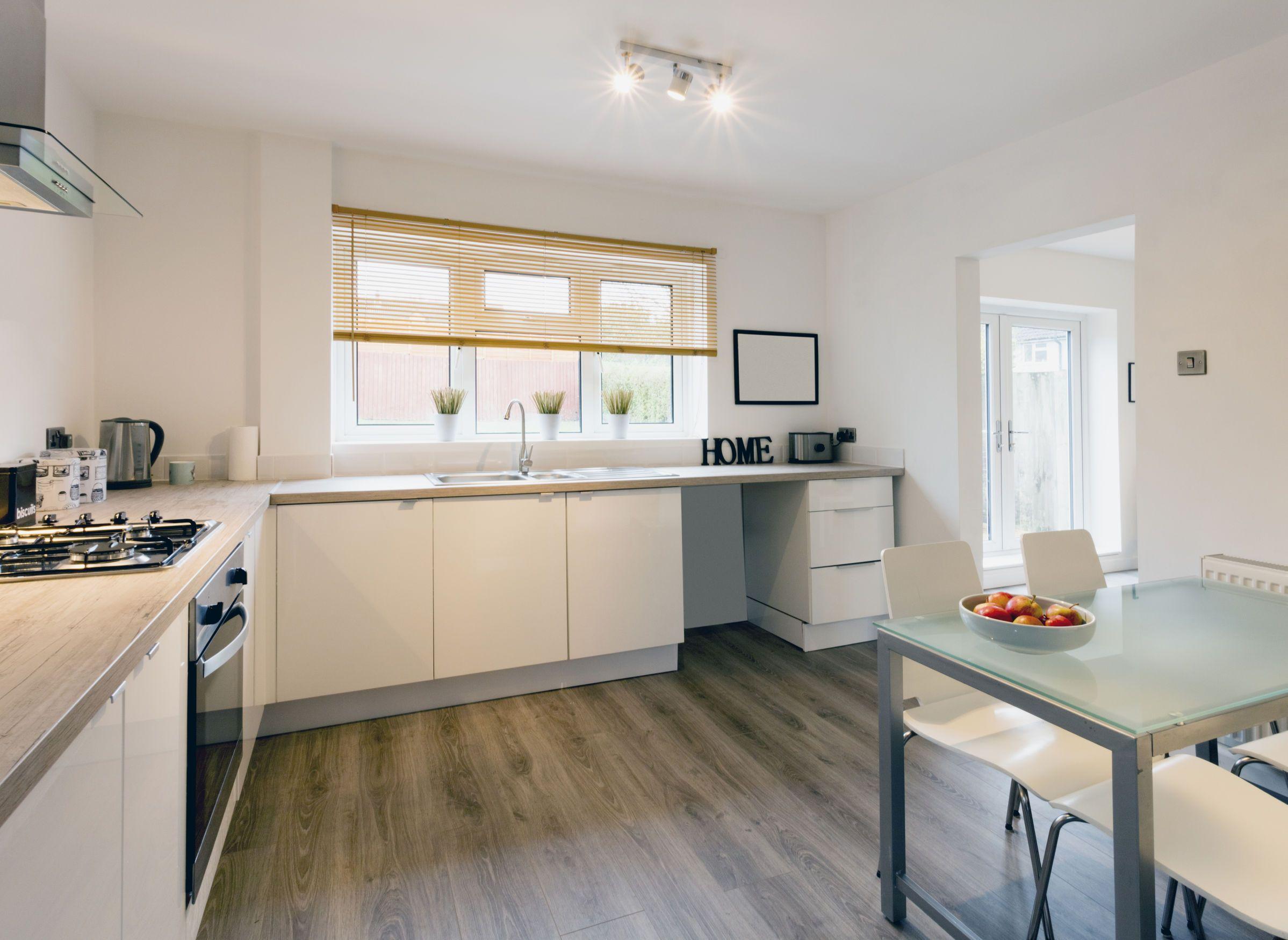 flooring kitchen vinyl perfect laminate wooden | Home Design ...