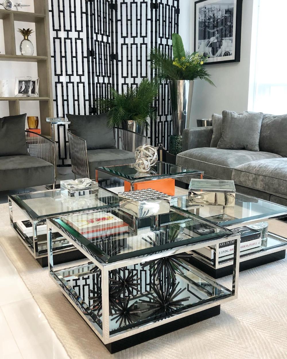 Black Velvet Wire Chair Eichholtz Knox Coffee Table Home Interior Accessories Luxury Furniture [ 1250 x 1000 Pixel ]
