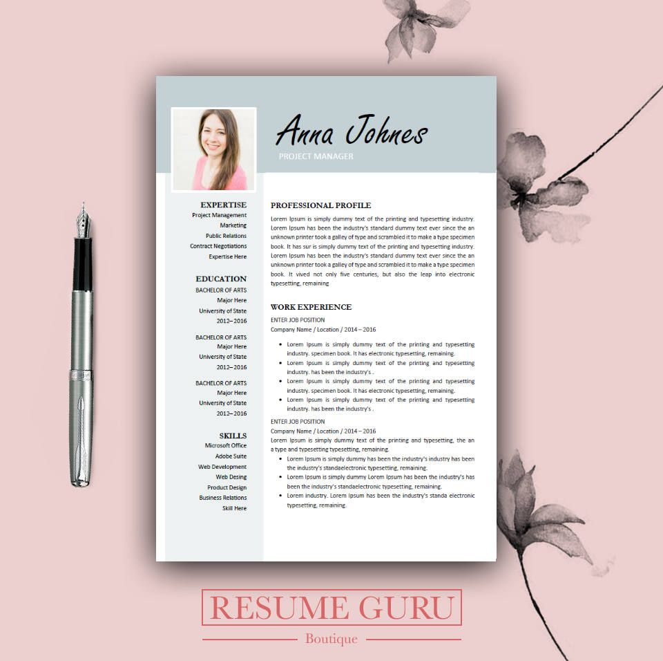Microsoft Office Resume Templates 2014 Teacher Resume  Professional Resume Template  Cover Letter For Ms .