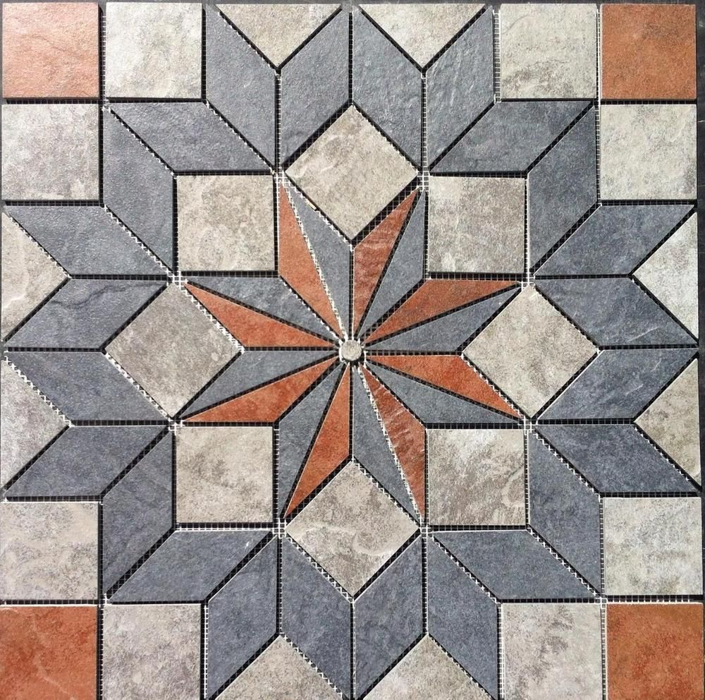 22 1 4 Tile Medallion Accent Daltile Continental Slate Tile Floor Or Wall Mosaic Art Ancient Tiles Slate Tile Floor