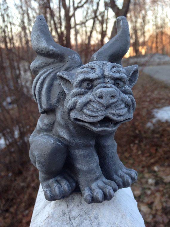 Dog Gargoyle Statue Doggoyle Dark Winged Gothic by FireKDesigns ...