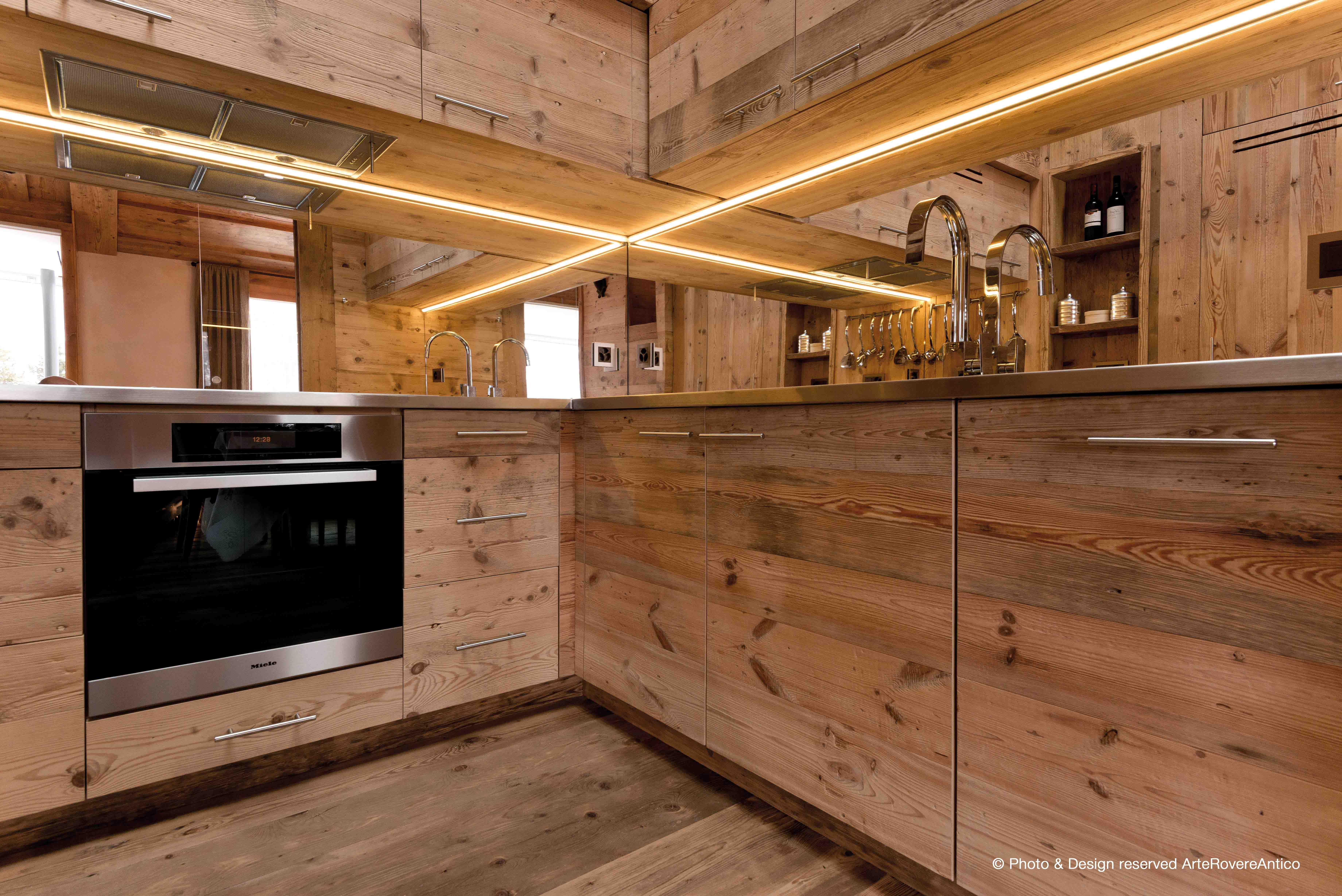 contemporary wood kitchen by Arte Rovere Antico || Photo by Duilio ...