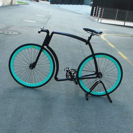 Viks Bicycle Gloss Black Frame Green Rims Black Tires