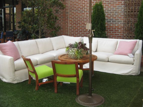 Posh Patio Furniture   White Nandina Outdoor Sectional