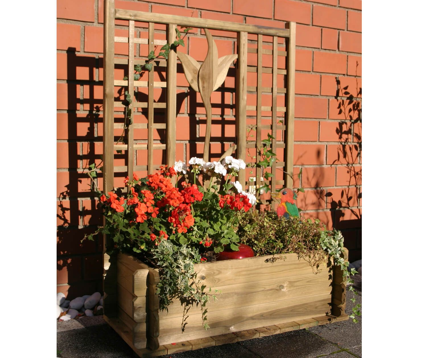 pflanzkasten tulpe, rechteckig, ca. 90 x 45 x 27/125 cm | mobiliar
