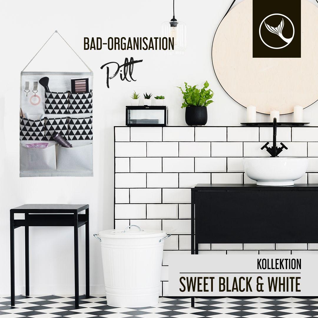Sag Tschuss Zum Chaos Und Hallo Zu Pitt Denn Unser Bad Organisator Aus Der Sweet Black White Kollekti In 2020 Wc Burstenhalter Kosmetikeimer