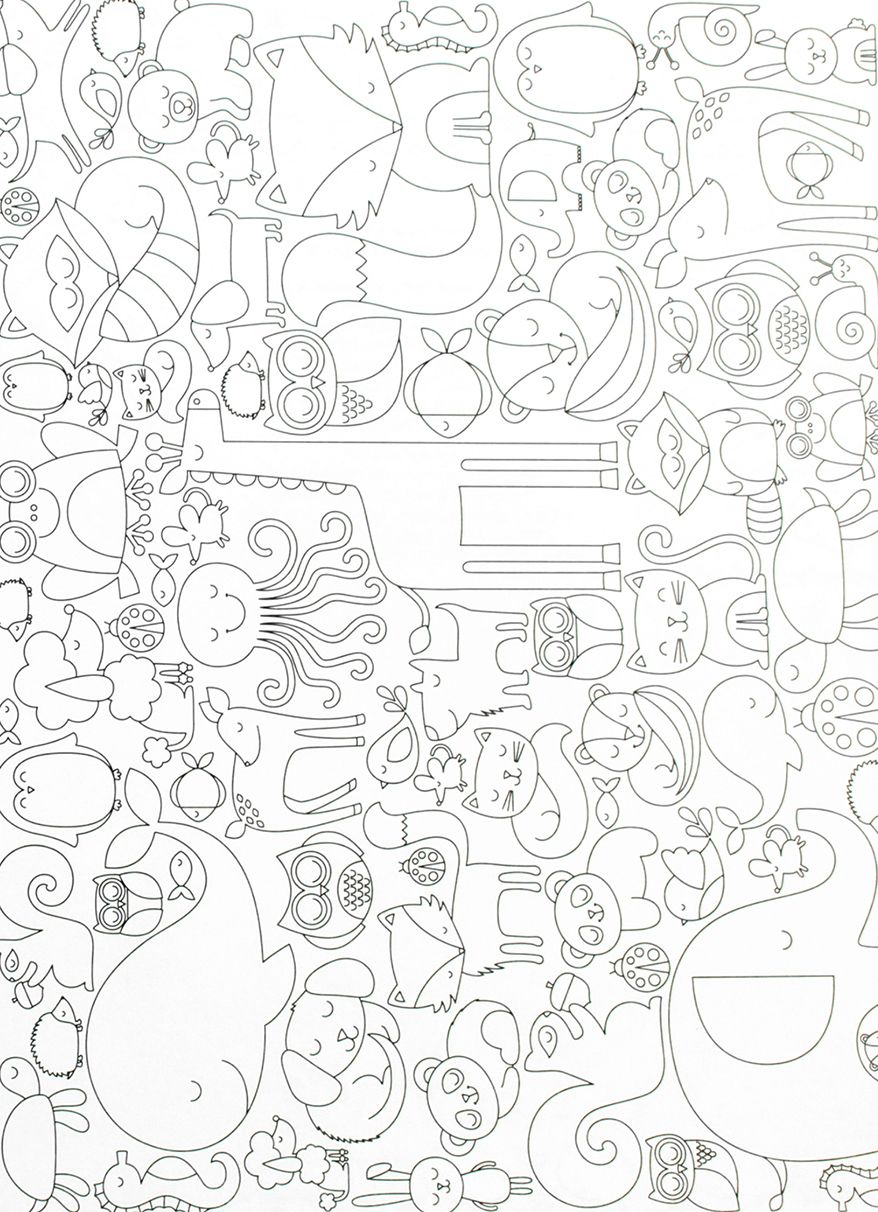 Another Sneak Peek Of A Page From Our Animal Themed Cozy Critters Coloring Book For Adults