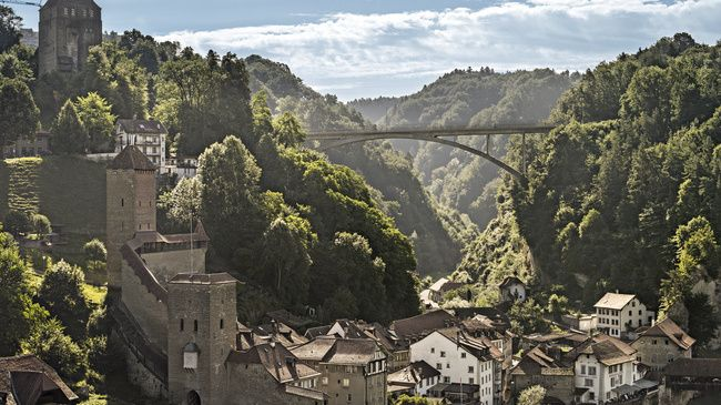 Fribourg / Freiburg - Switzerland's city of bridges.