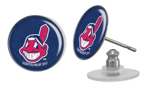 MLB Cleveland Indians Earrings - Post, 1/2-inch by Stockdale, http://www.amazon.com/dp/B007OR4VCA/ref=cm_sw_r_pi_dp_ruUhrb18YQCRG