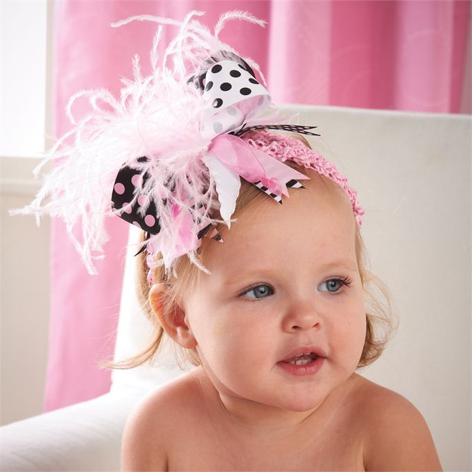 Black And Pink Ostrich Party Headband  851ae587b29