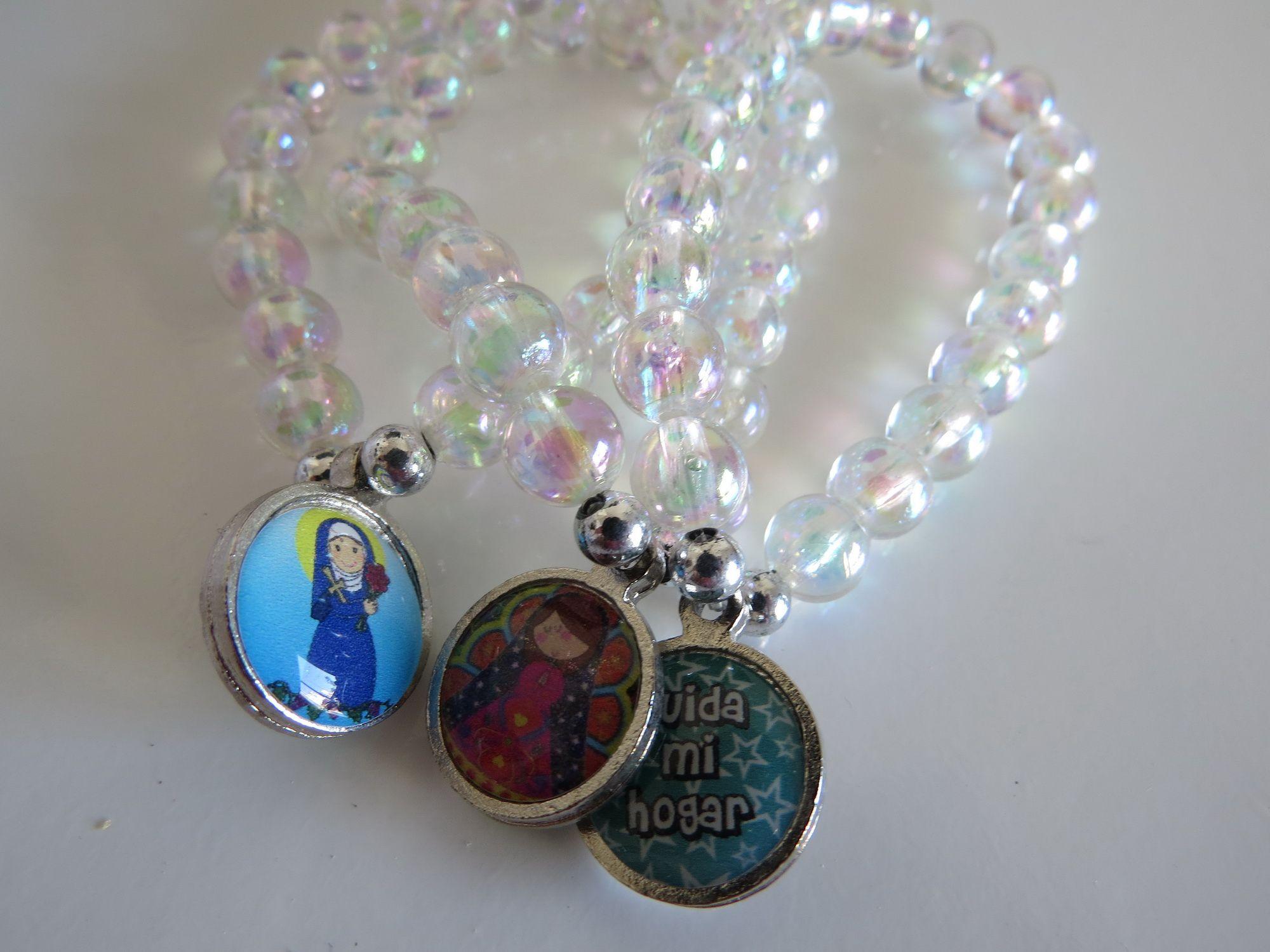 33eb5871ee9e Denarios de perla transparentes con medallas porfis t