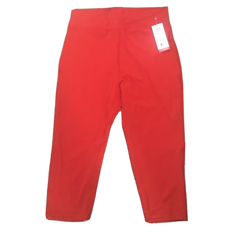 Popfit Leggings Size 2xl Red Crops 3 4 Length Pop Fit 1011 9 Activewear Comfort Popfit Cropped Activewear In 2021 Active Wear Leggings Fashion